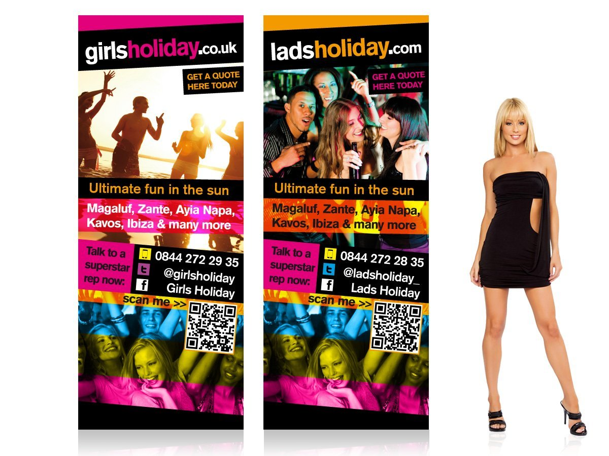 LadsHoliday.com Pull Up Stands