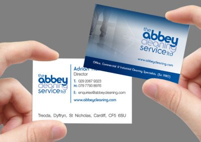 Abbey Cleaning Business Cards