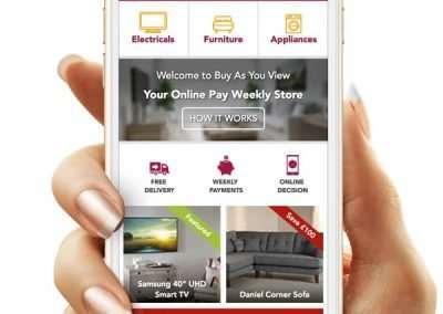 Homepage Mockup – Mobile Version