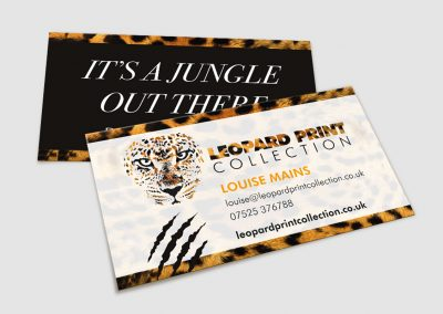 Leopard Print Collection Business Cards