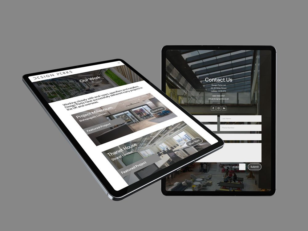 Design Perks Website iPad Pro